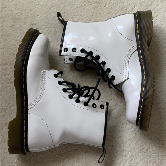 Dr. Martens Shoes | White Glossy Doc